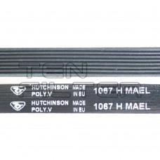 Ремень 1067 H8 длина 1000 мм, черный, Hutchinson